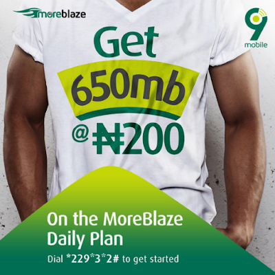 Get 650MB for N200 on 9mobile