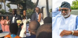 Photos And Videos From Governor Rotimi Akeredolu Daughter Wedding In Mauritius