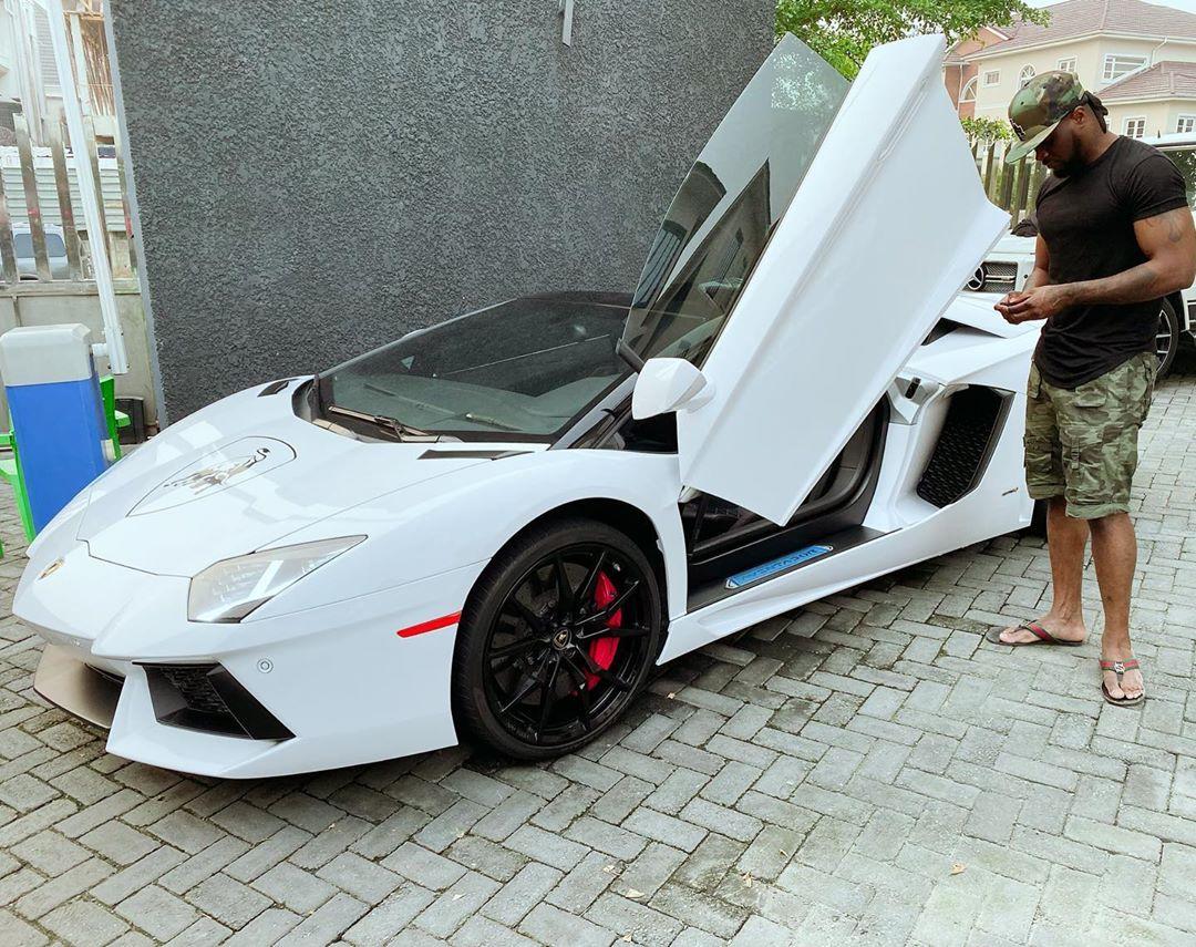 Peter Okoye Lamborghini Aventador