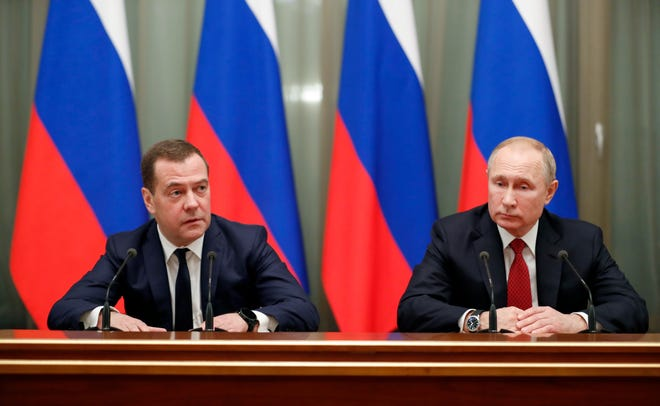 Russia Prime Minister Dmitry Medvedev Resigns