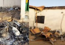 Angry-youths-burn-police-station-for-stopping-them-from-observing-their-Friday-prayers