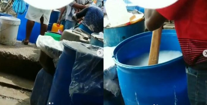 Video of how hand sanitizers are made in ojota