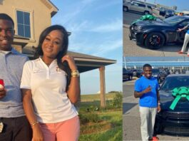 A lady has left social media users in awe after she gifted her husband a brand new car worth millions of naira.